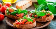 брускетта с овощами в Гранд-кафе «Провинция»