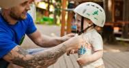 дети в Веревочный парк TreeToTree Репино
