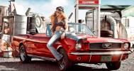 девушка и машина в Сеть шиномонтажей «FormulaШин»
