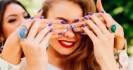 фиолетовый маникюр в Салон красоты «Александра»