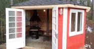 гриль домик в Веревочный парк «Greenvald Парк Скандинавия»