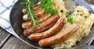колбаски с капустой в Английский паб Shilling