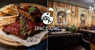 Скидка 50% на меню кухни в Гастропаб Space Owl