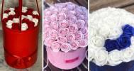 Скидки до 60% на букеты роз в шляпной коробке в Компания ROSEBOX_SPB