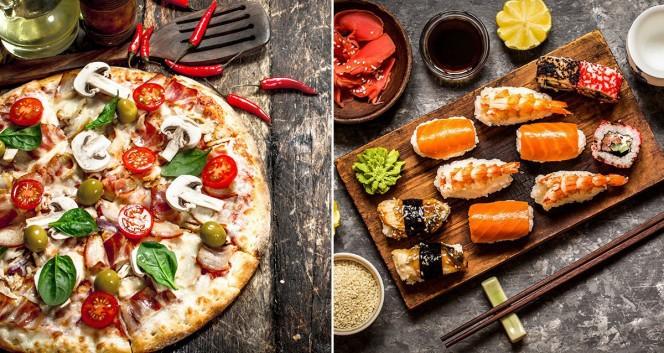 Скидка 50% на доставку пиццы и роллов в Служба доставки Food-Dostavka
