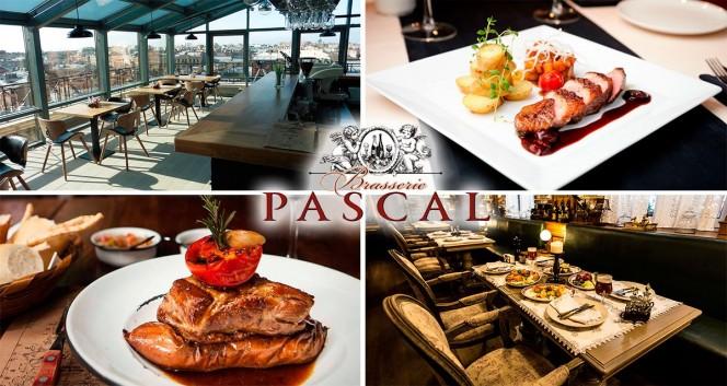 Скидки до 50% в ресторане с панорамным баром в Ресторан «Брассери Паскаль»