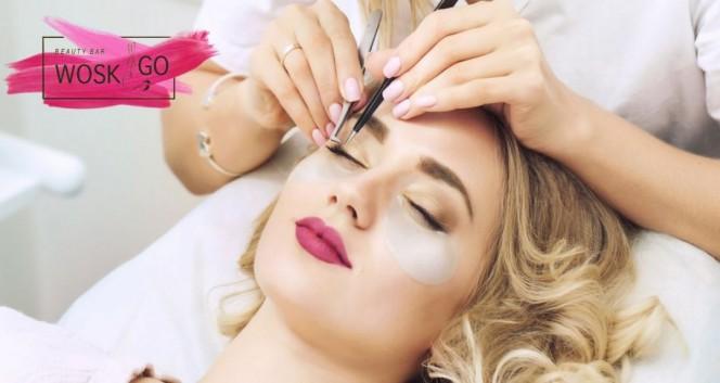 Скидки до 76% на оформление бровей и наращивание ресниц в Салон красоты Beauty bar Wosk&Go