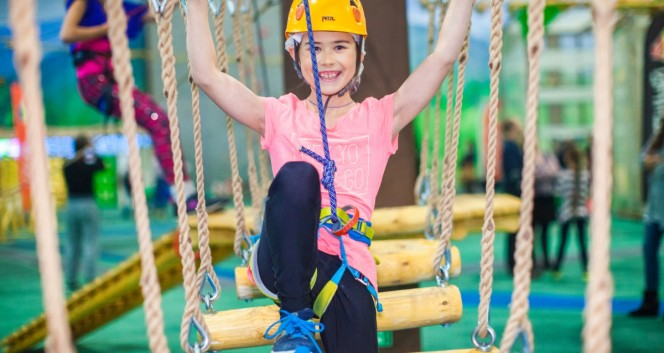 Скидка 50% в веревочном парке и 50% на программу «День Рождения» в Веревочный парк «Высотный город» в «Питерлэнд»